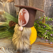 Load image into Gallery viewer, UW Graduation Gnome, Large, Brown Beard, Brown Hat w/ Oval Steamboat