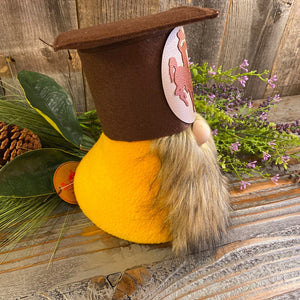 UW Graduation Gnome, Large, Brown Beard, Brown Hat w/ Oval Steamboat