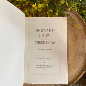 THREE PLAYS - Bernard Shaw Franklin Library Limited Edition 1979