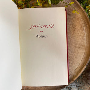 POEMS - John Donne Franklin Library Limited Edition 1978