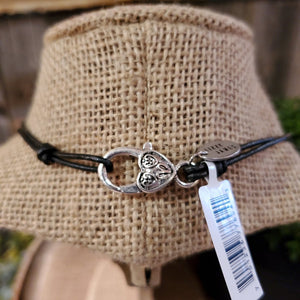 Lizzy James: Wrap Bracelet/Necklace Girlfriend Met Gunmetal Silver 2 Strand, Small