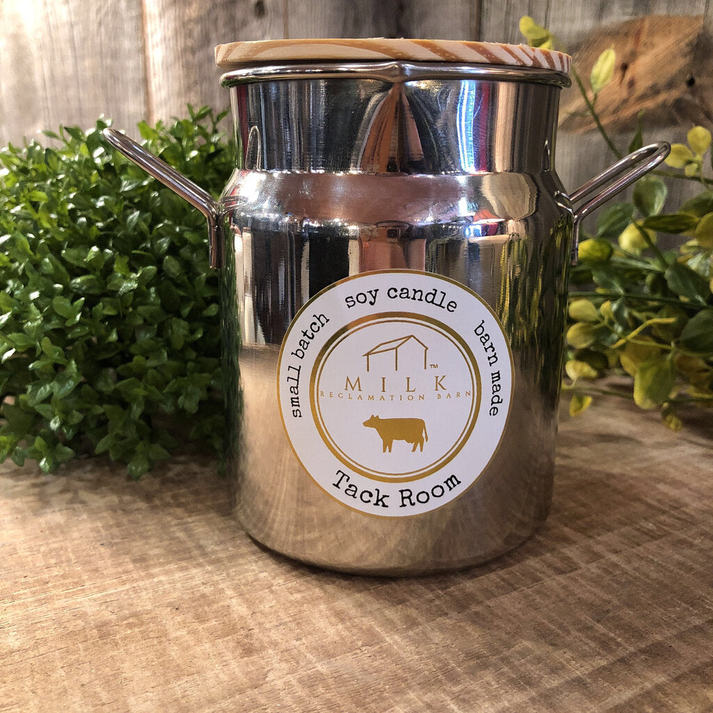 Milk Barn Candle Stainless Cream Can Tack Room