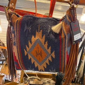 Espuela Comanche Moon Tote Saddle Blanket Handcrafted