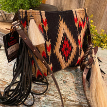 Load image into Gallery viewer, Espuela Mini palo Duro Saddle Blanket Cross Body Handbag Handcrafted