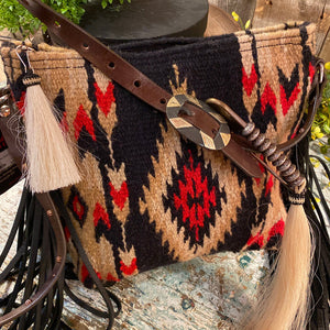 Espuela Mini palo Duro Saddle Blanket Cross Body Handbag Handcrafted