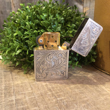 Load image into Gallery viewer, Sterling Silver Engraved Lighter