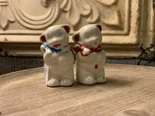 Load image into Gallery viewer, Vtg American Bisque Co Teddy Bear Salt & Pepper Shakers