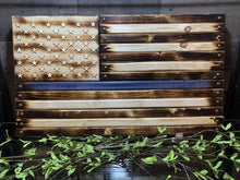 "Load image into Gallery viewer, 14 3/4""x26"" Thin Blue Line Flag Handcrafted by Navy Veteran 8.20"