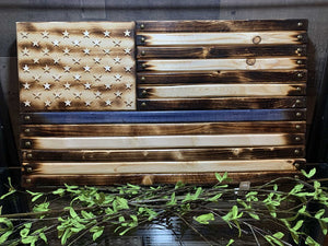 "14 3/4""x26"" Thin Blue Line Flag Handcrafted by Navy Veteran 8.20"