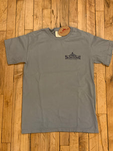 The Bent & Rusty Gas Station Stone Grey T-shirt
