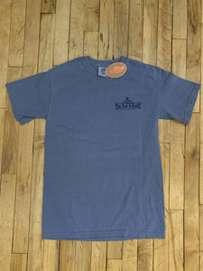 The Bent & Rusty Gas Station Blue T-shirt