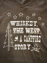 Load image into Gallery viewer, Whiskey & the West Olive V-Neck Short Sleeve T Shirt