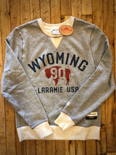 Load image into Gallery viewer, WYO 1890.  Champion Crew Neck Sweatshirt.  Oxford Grey & Oatmeal.