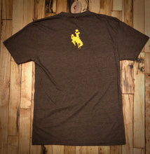 Load image into Gallery viewer, The World Needs More Cowboys Crew Neck T Shirt.  Brown Heather.