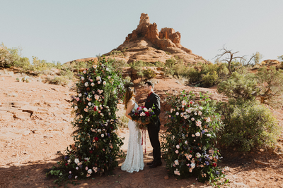 Bree + Ryan's Intimate Sedona Wedding