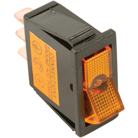 Battery Doctor On And Off Amber Illuminated 20-amp Rocker For 12mm X 30mm Slot