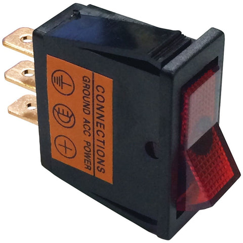 Battery Doctor On And Off Red Illuminated 20-amp Rocker For 12mm X 30mm Slot