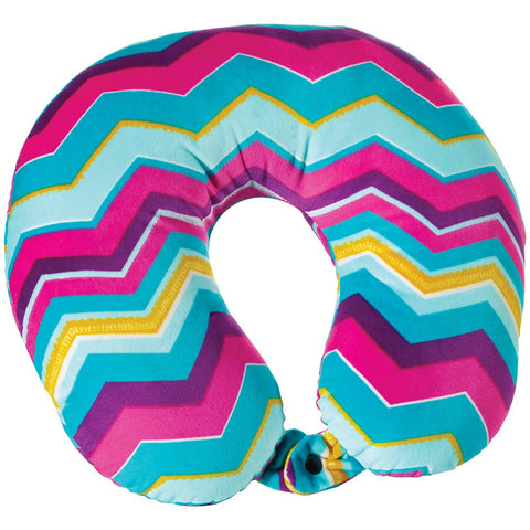 Travel Smart By Conair Soft Flannel-cover Fiberfill Chevron Neck Rest