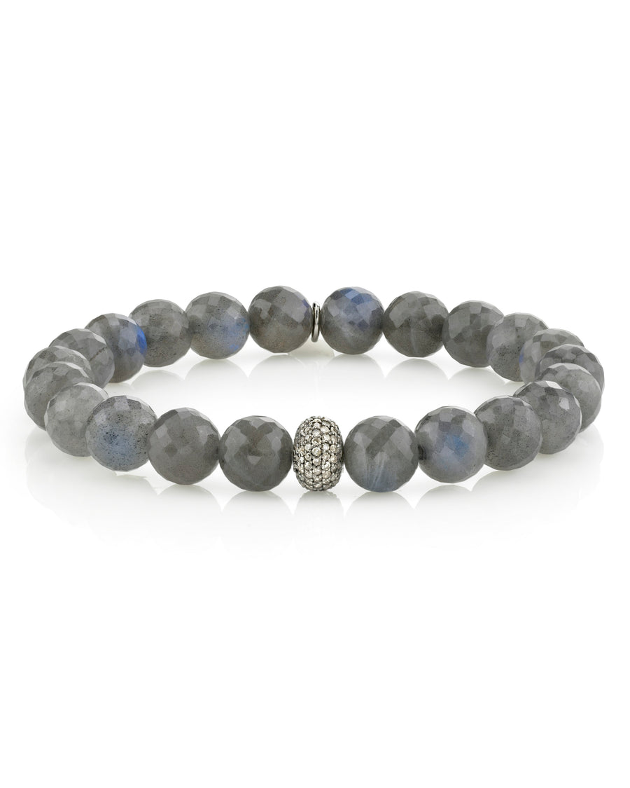 Labradorite Bracelet With Diamond Donut