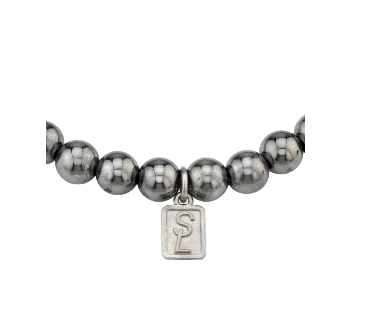 Cross Silver Bead Bracelet