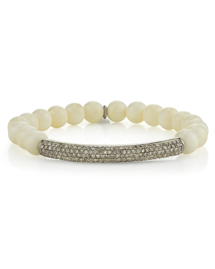 Bone and Pavé Diamond Bracelet