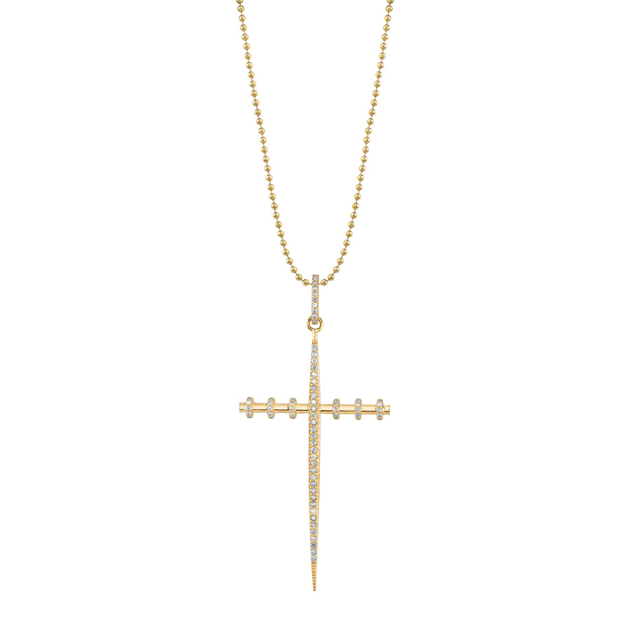 14K Gold Armour Cross Necklace