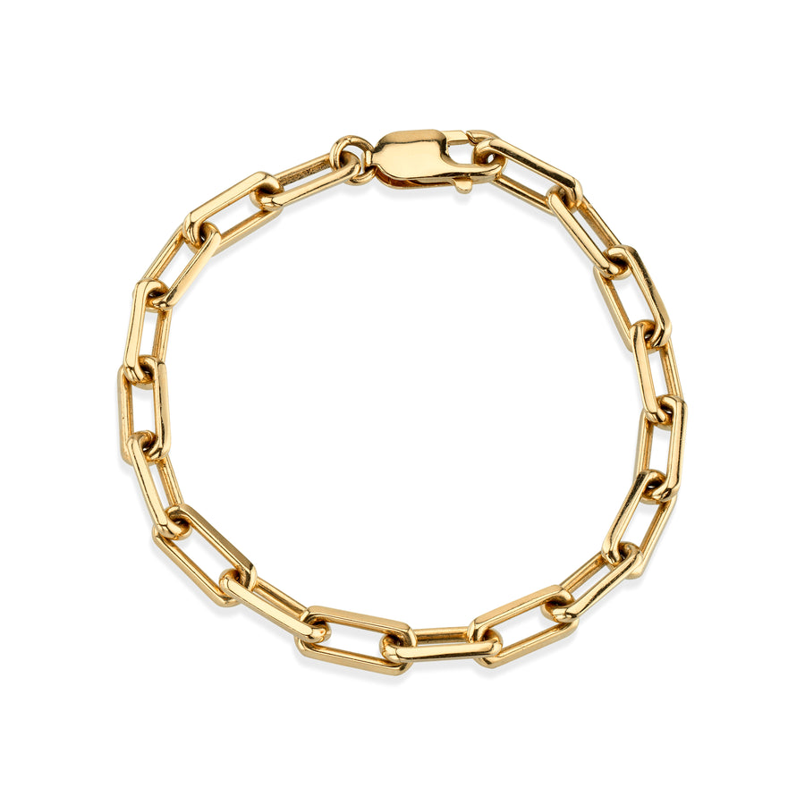 14K Gold Long Link Chain Bracelet