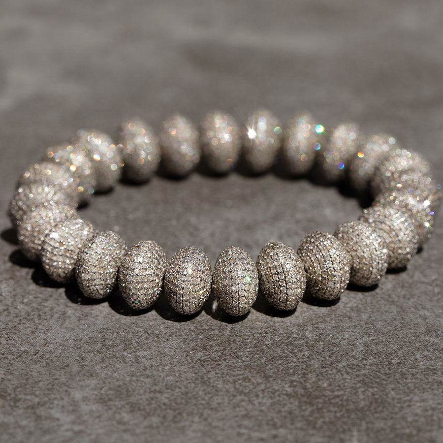 All Diamond Donut Bracelet