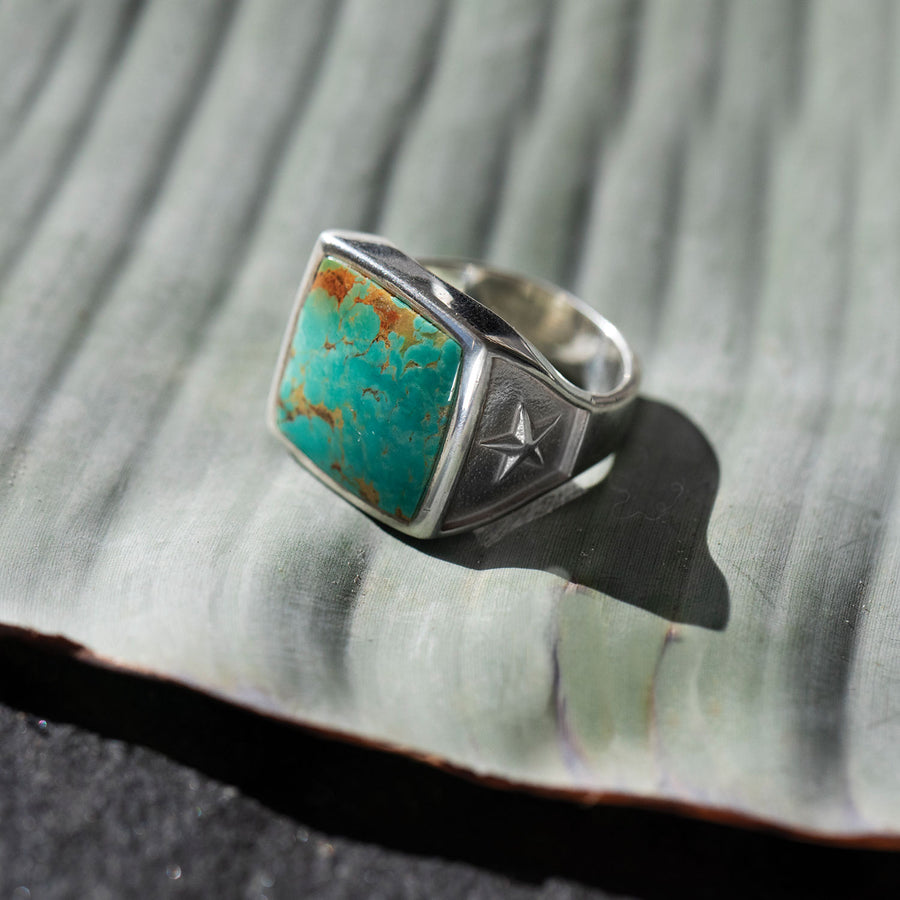 Mr. LOWE One of a Kind Sonoran Turquoise Square Ring