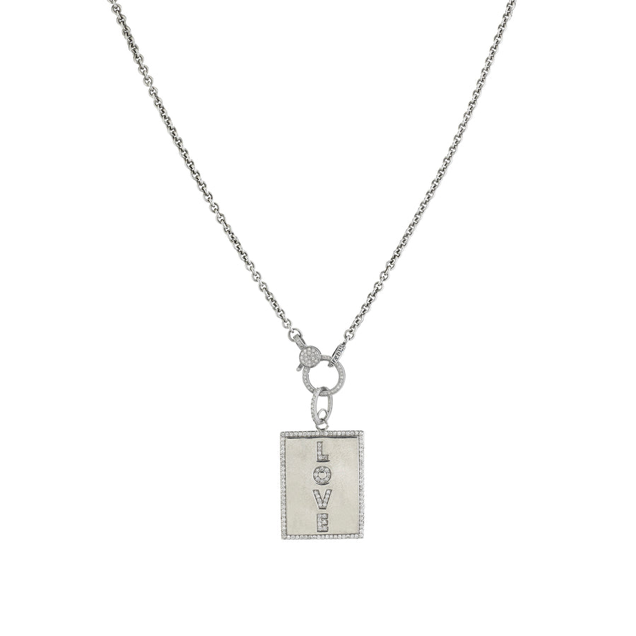 LOVE Tag Pendant Necklace
