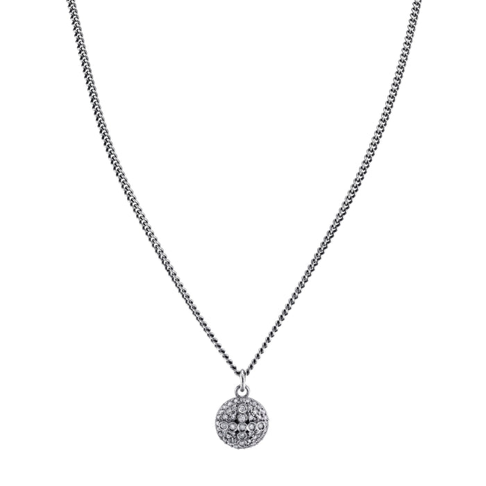 Pavé diamond Dome Cross pendant necklace