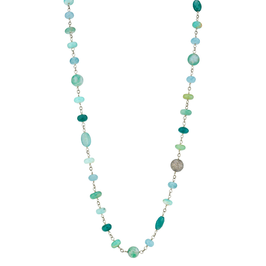 Green Mixed Gemstones Necklace