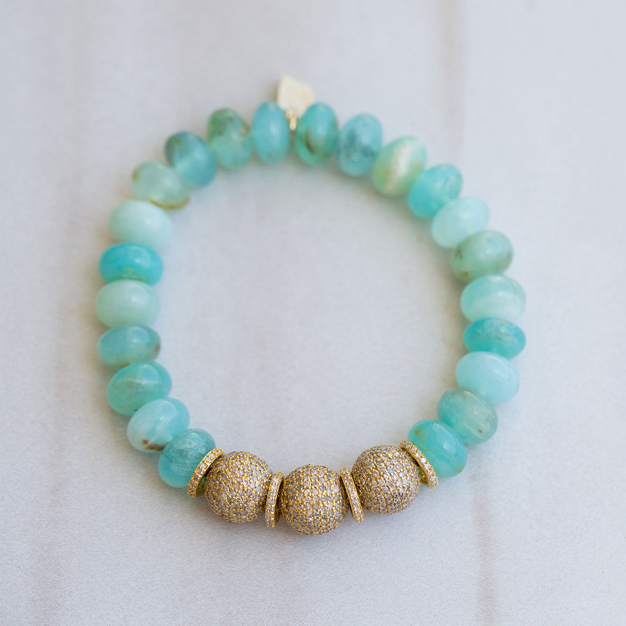 14k Gold and Peruvian Opal Bracelet