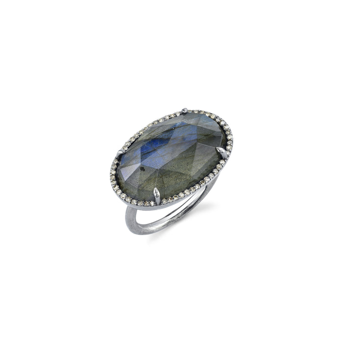 LABRADORITE EAST WEST RING