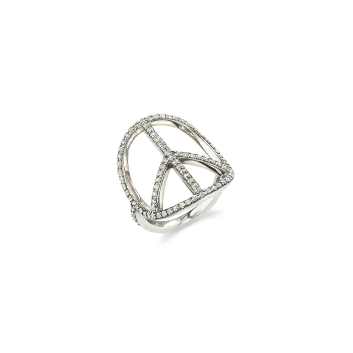 Pavé Diamond Peace Ring