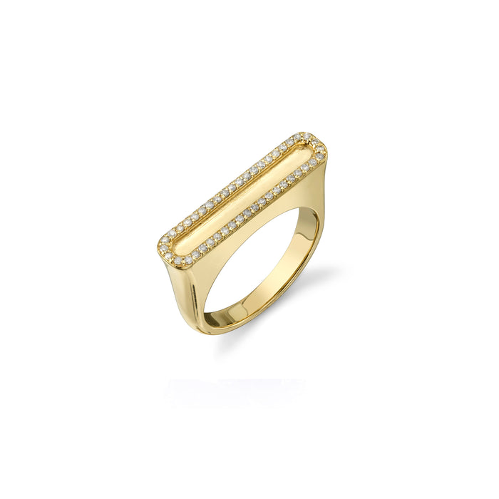 14K Border Bar Ring
