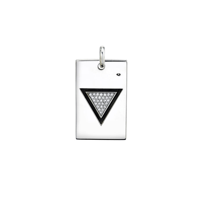 TRIANGLE PAVÉ DIAMOND PENDANT