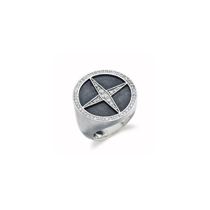 FOUR POINT PAVÉ CROSS RING