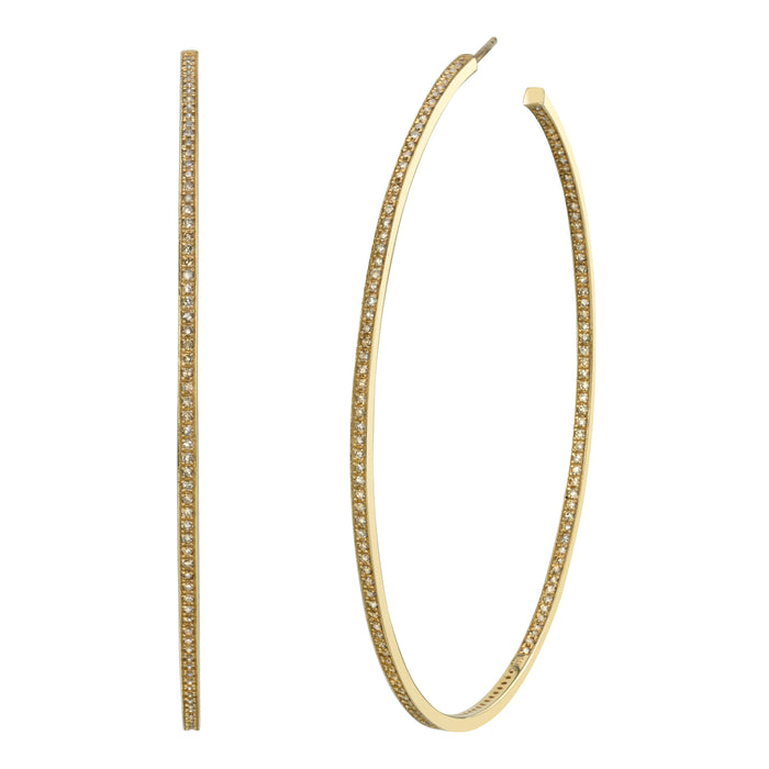 14k Gold Inside Out Hoop Earrings