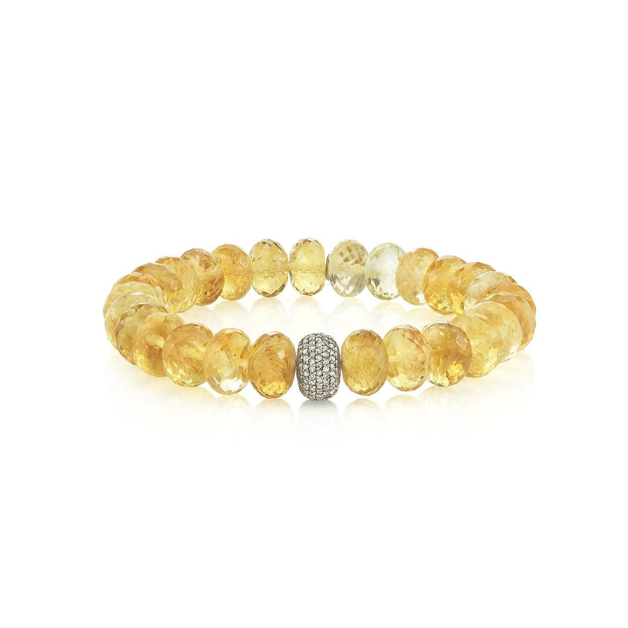 Citrine Bracelet With Diamond Donut
