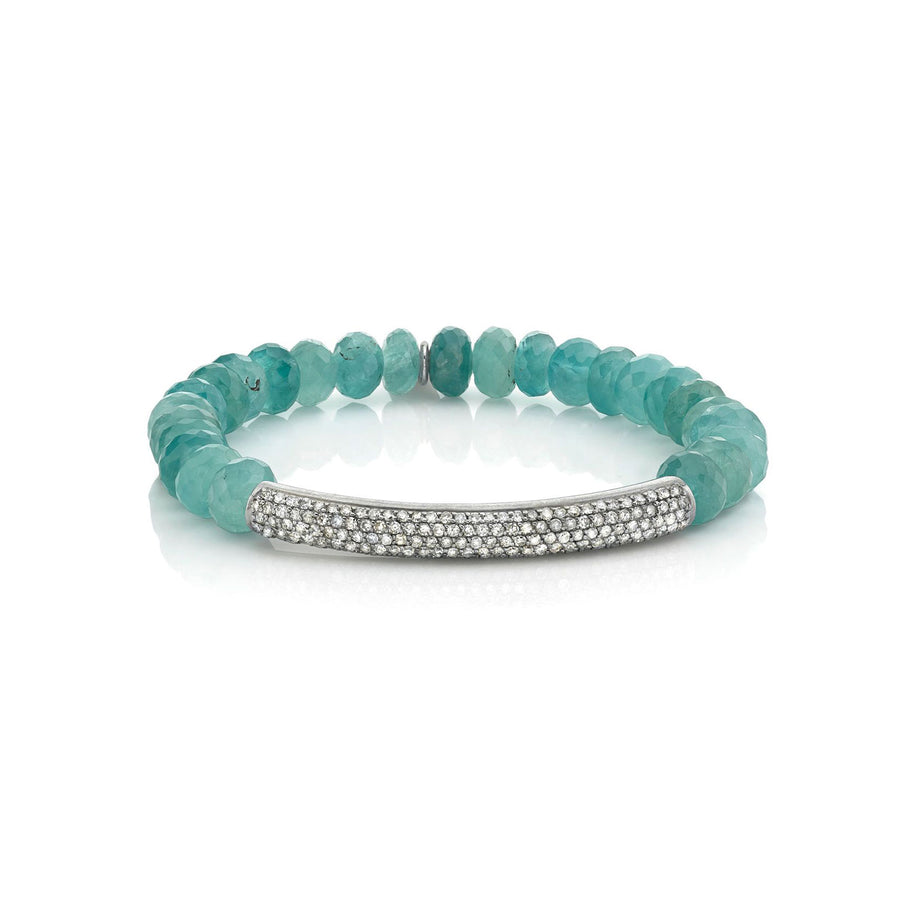 Grandidierite Bracelet With Diamond Bar