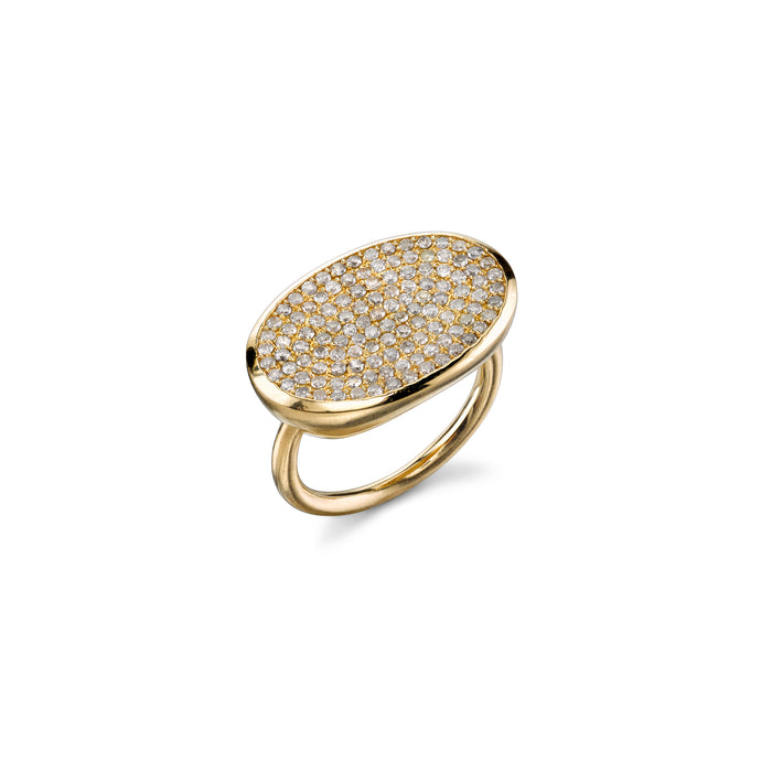 14k Pavé Diamond East West Ring