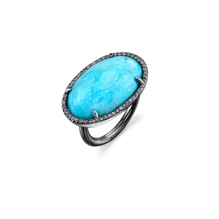 Turquoise East West Ring