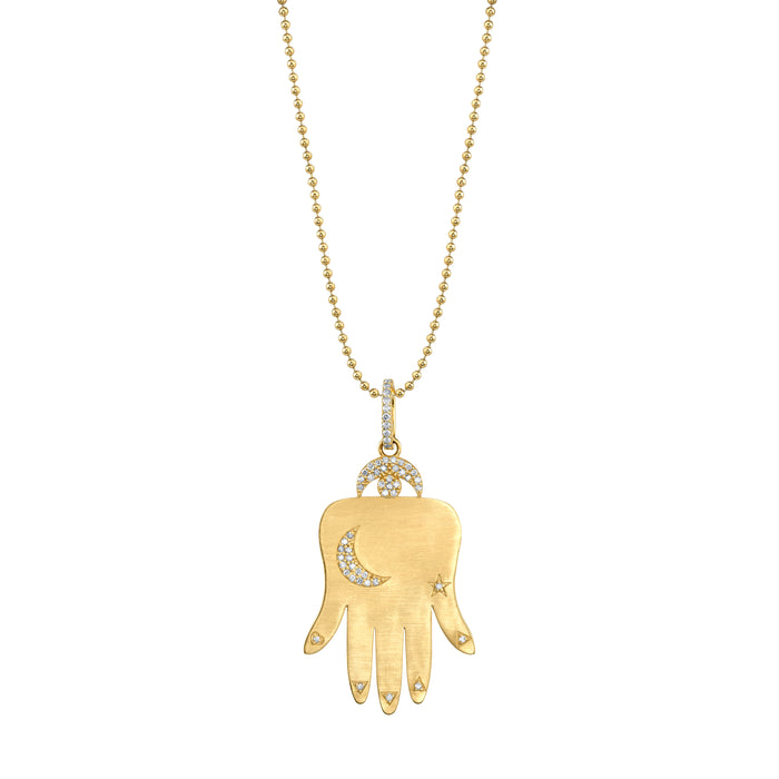 14k Gold Hand of Fortune Necklace
