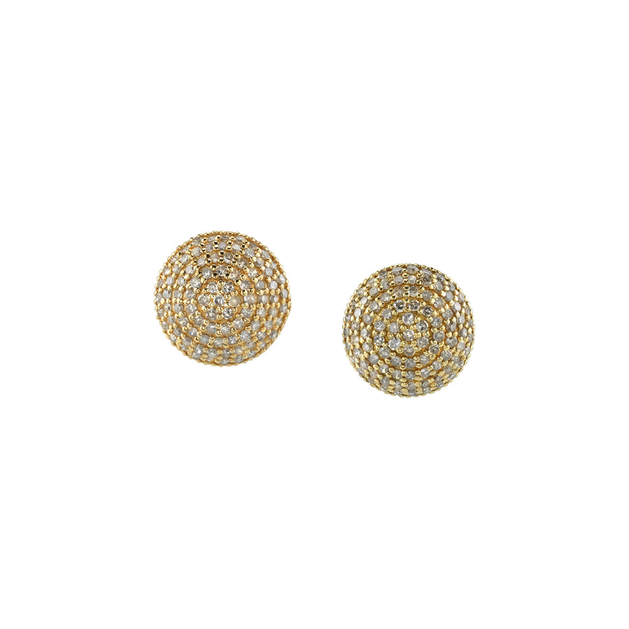 14K Gold Domed Stud Earrings