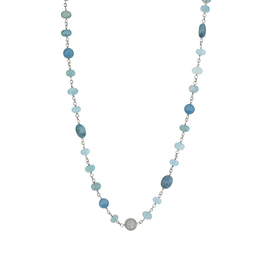Paraiba Quartz Mixed Stone Necklace