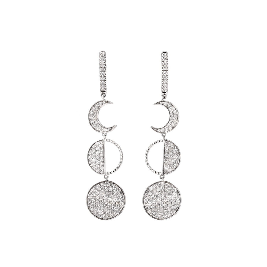 Many Moons Diamond Dangle Earrings