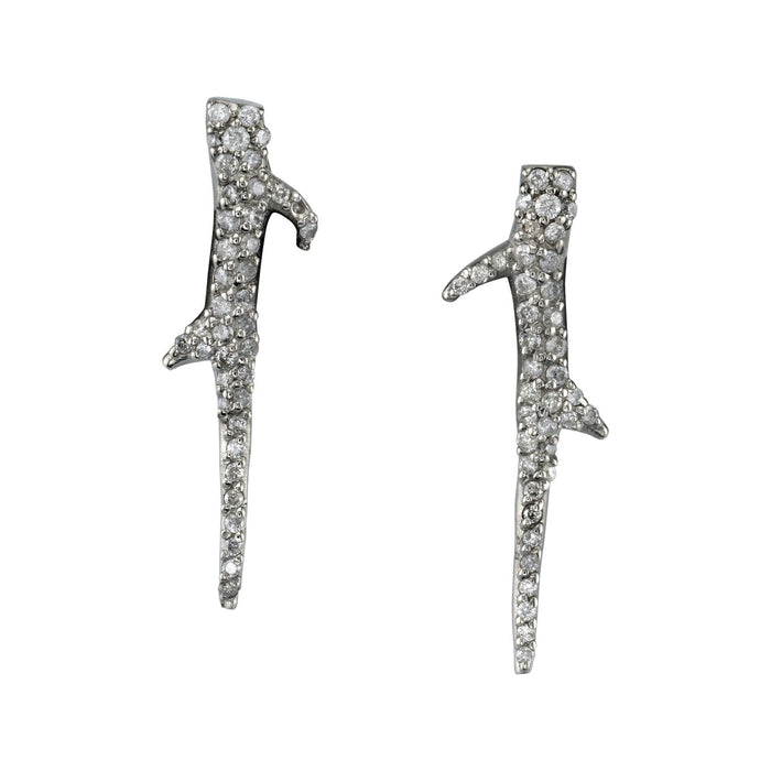 PAVÉ DIAMOND THORN EARRINGS
