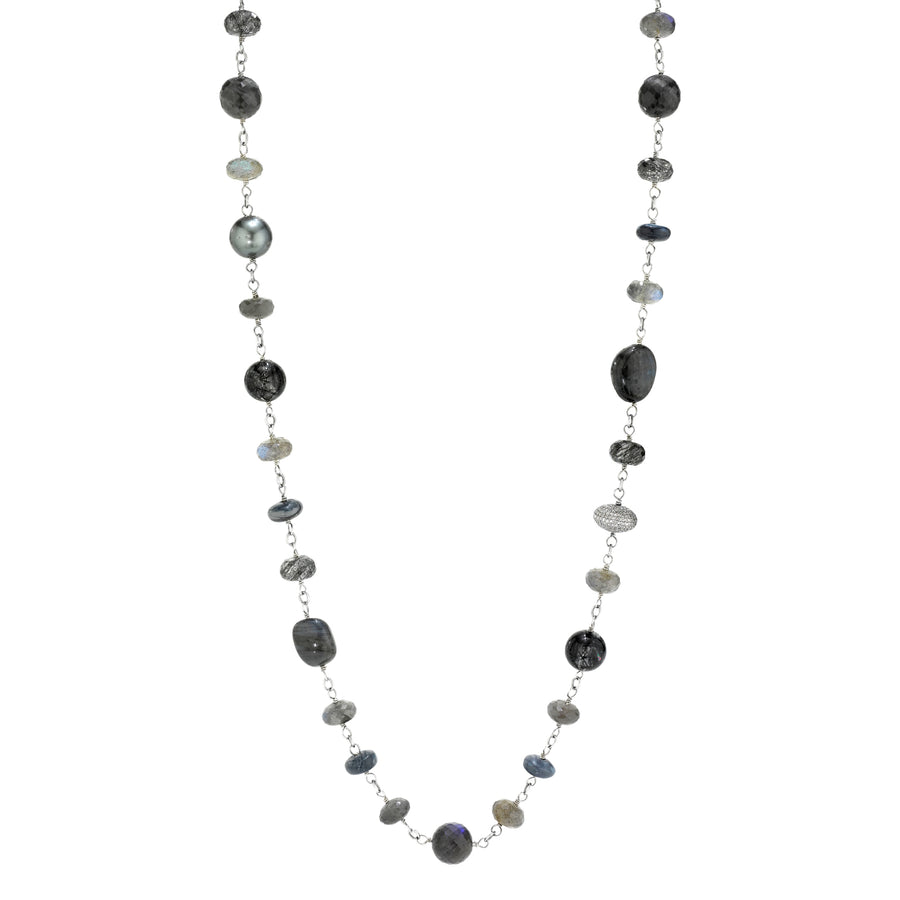 Gray Opal Mixed Gemstones Necklace