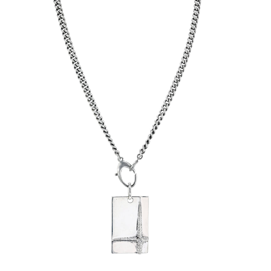 Mr. LOWE Cross Dog Tag Chain Necklace